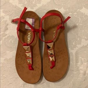 Vionic red sandals